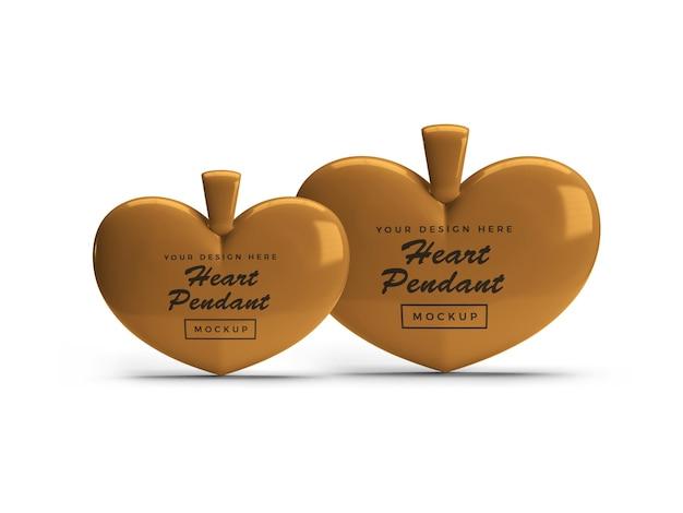 Gouden hart hanger mockup