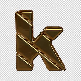Gouden letter 3d-rendering