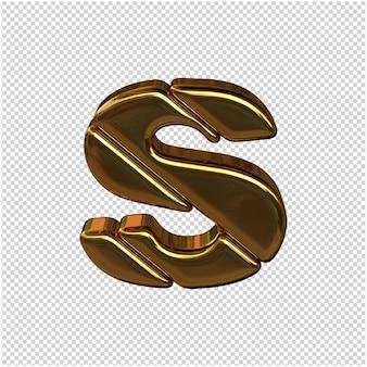 Gouden letter 3d-rendering Premium Psd