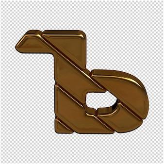 Gouden letter van het russische alfabet 3d-rendering