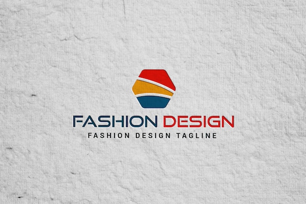 Gouden logo mockup design