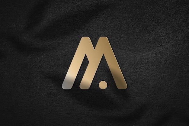 Gouden logo mockup ontwerp