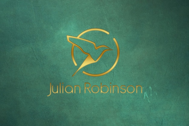 Gouden logo mockup