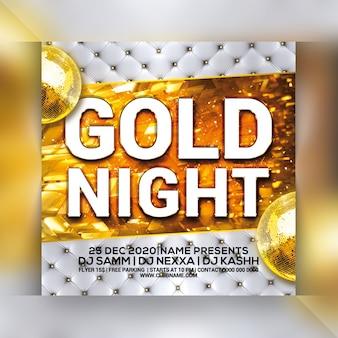 Gouden nacht feest flyer