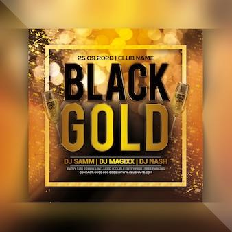 Gouden partij flyer