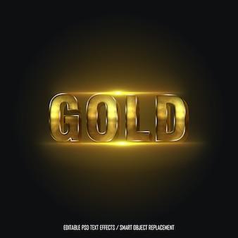 Gouden stijl 2 bewerkbaar teksteffect