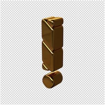 Gouden symbool gemaakt van naar links gedraaide staven op een transparante achtergrond