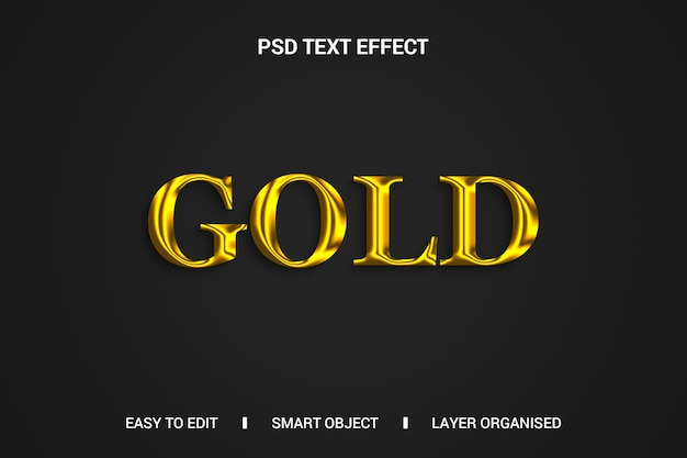 Gouden teksteffect op zwarte achtergrond