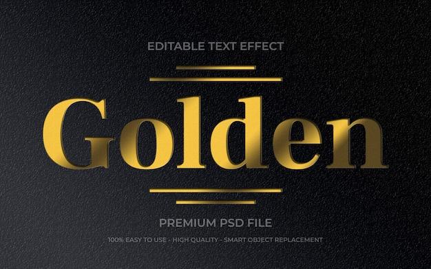 Gouden teksteffect sjabloon