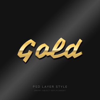 Gouden teksteffect