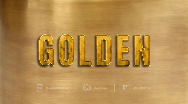 Gouden teksteffectontwerp laagstijleffect