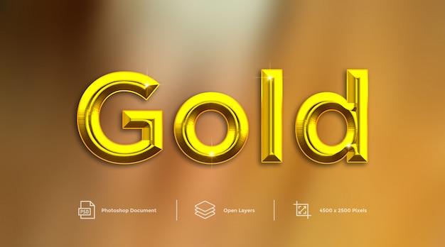 Gouden teksteffectontwerp photoshop laagstijleffect