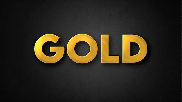 Gouden teksteffectsjabloon