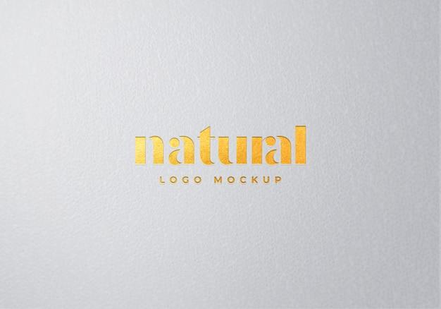 Gouden voorkant logo mockup