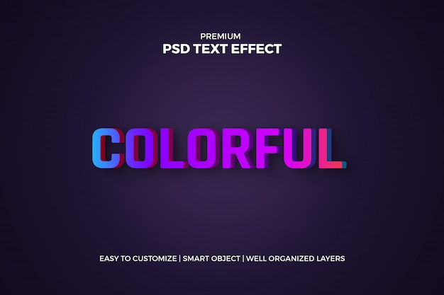 Gradient 3d text effect