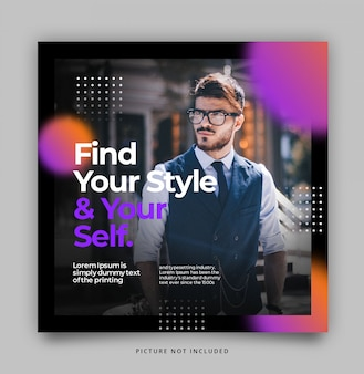 Gradient modern dynamic instagram post feed template