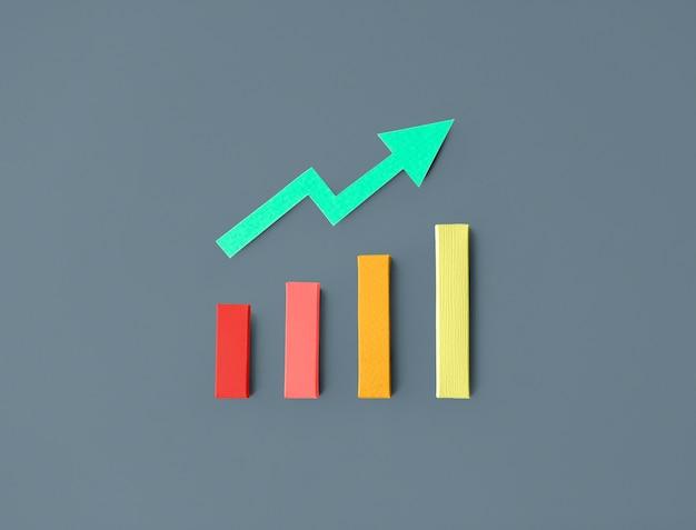 Grafico a barre di statistiche commerciali