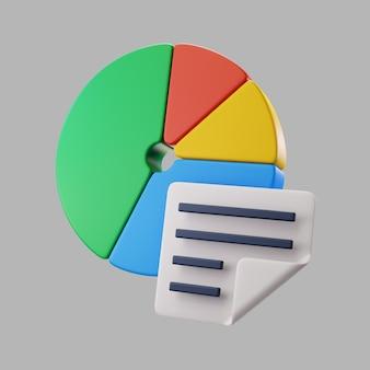 Gráfico circular 3d con información PSD gratuito