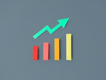 Gráfico de barras de estatísticas de negócios
