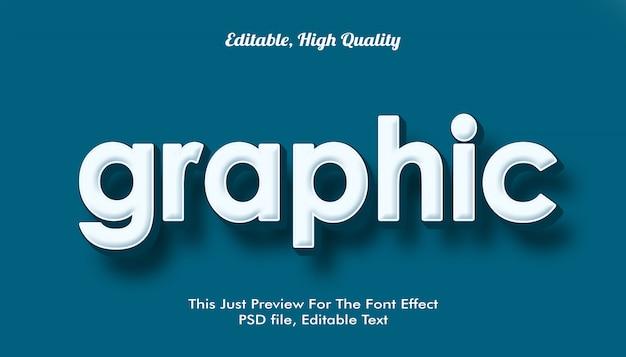 Gráfico, efecto de fuente de moda 3d de estilo moderno