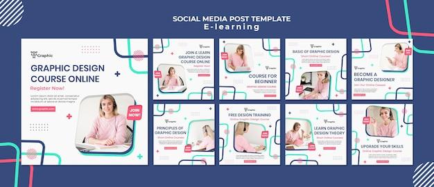 Grafisch ontwerp cursus social media posts