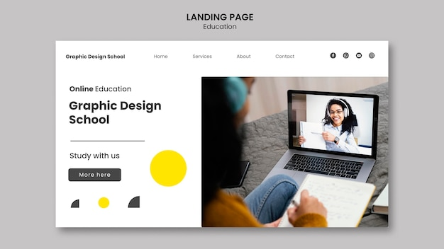 Grafisch ontwerp school websjabloon