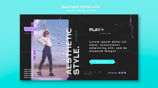 Grafisch ontwerp trends banner concept