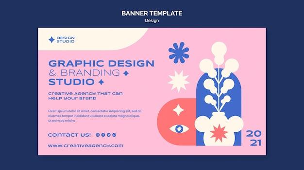 Grafisch ontwerpsjabloon voor spandoek
