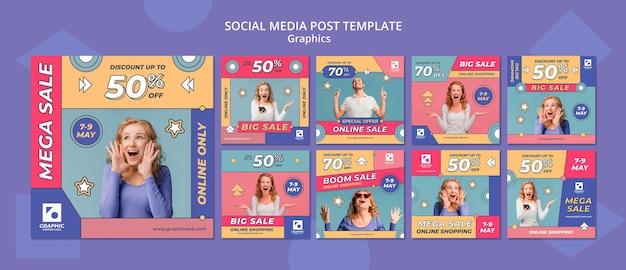 Grafische klasse sociale media plaatsen
