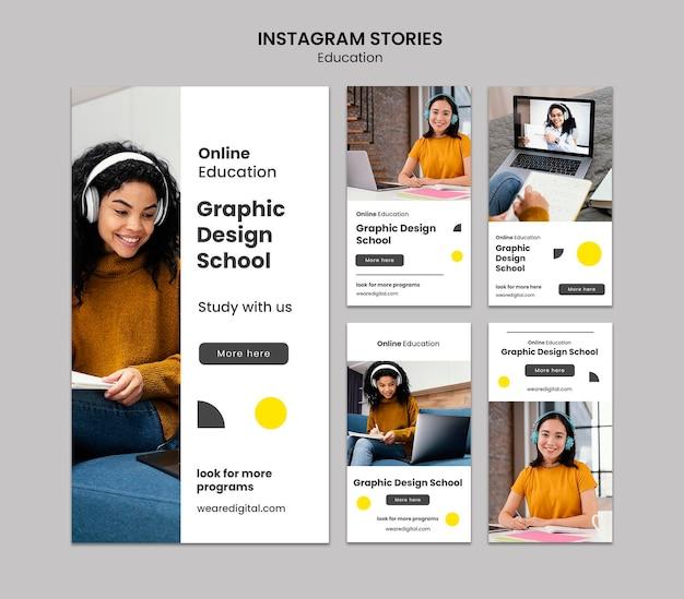 Grafische ontwerpschool instagram-verhalen