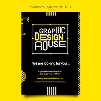 Grafische ontwerpservices afdruksjabloon