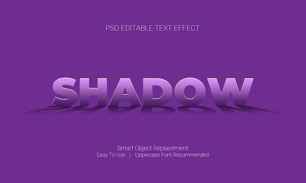 Grafische ontwerpsoftware bewerkbaar teksteffect met schaduw onder de tekststijl