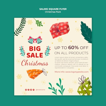 Gran venta de flyer de navidad