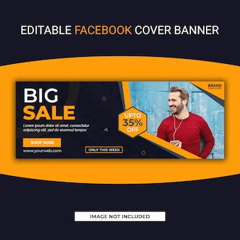 Grande modello di banner di social media facebook di vendita