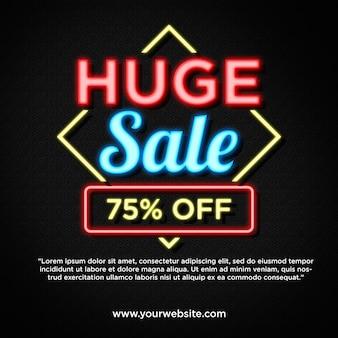Grande vendita in promozione di banner in stile neon