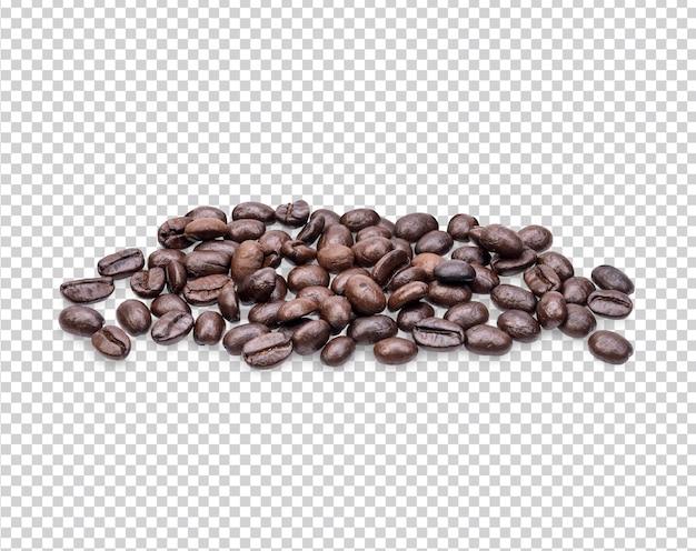 Granos de café aislados premium psd