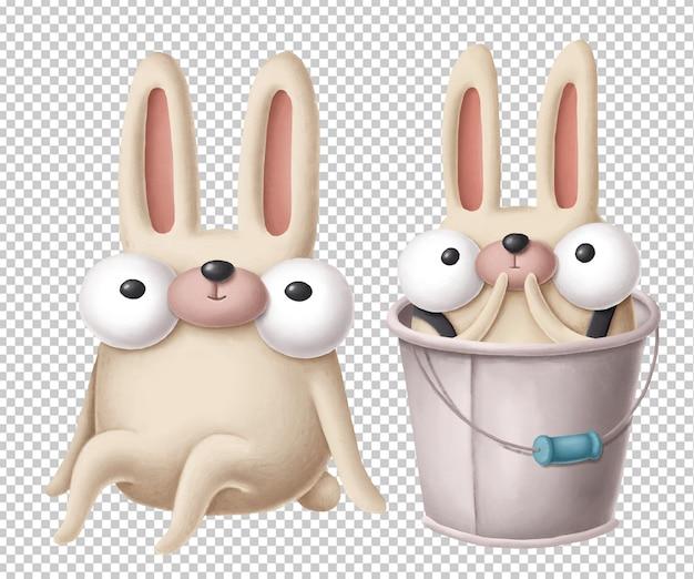 Grappige cartoon konijnen