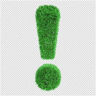 Gras symbool 3d-rendering
