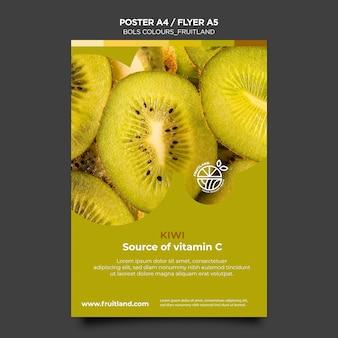 Grassetto poster di frutteto di colori