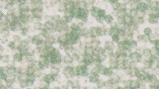 Grasveld bovenaanzicht in 3d-rendering