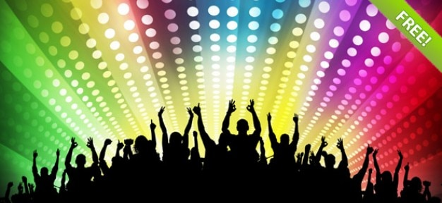 Gratis disco party achtergronden