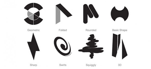 Gratis logo set di modelli