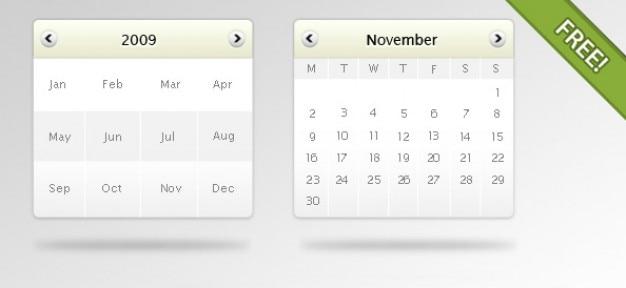 Gratis psd kalender mockup