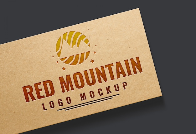 Gratis psd-logo mock-up