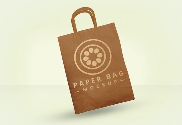 Gratis psd papieren zak mock-up