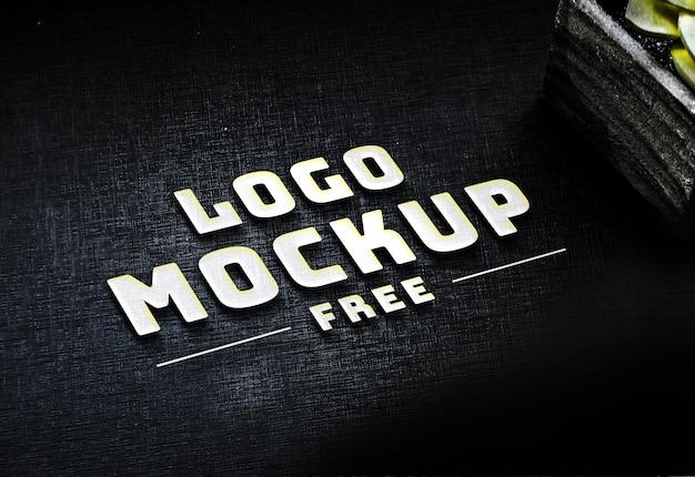 Gratis psd white business logo mock-up