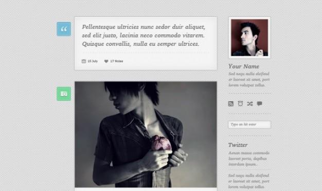 Gratis tumblr thema psd - lambda