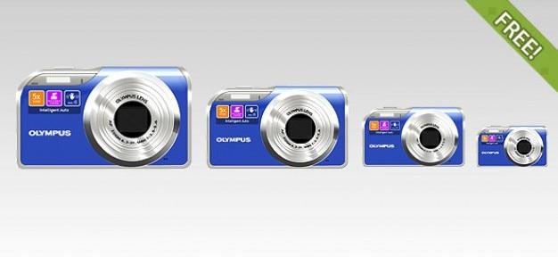 Gratis volledige gelaagde olympus digital camera icoon