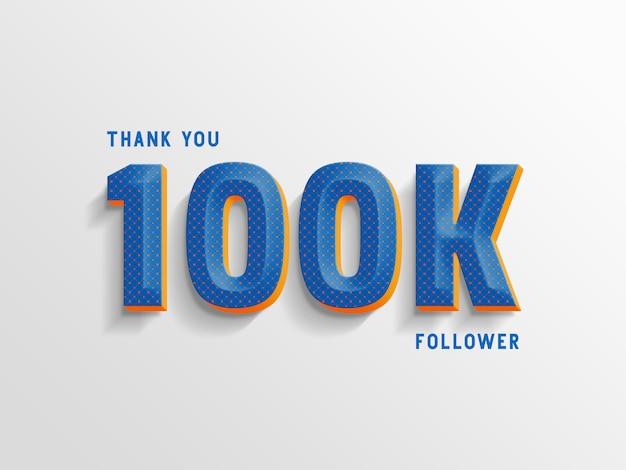 Grazie 100k follower, generatore di stili di testo.