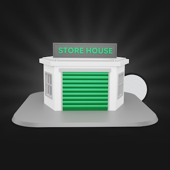Green store house 3d